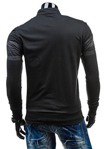 BOLF – Sweat-shirt – Fermeture éclair – J. STYLE 2083 – Homme Noir