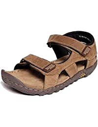 Generic Sandel Men Woodland Men's Leather Sandals And Floaters - 7
