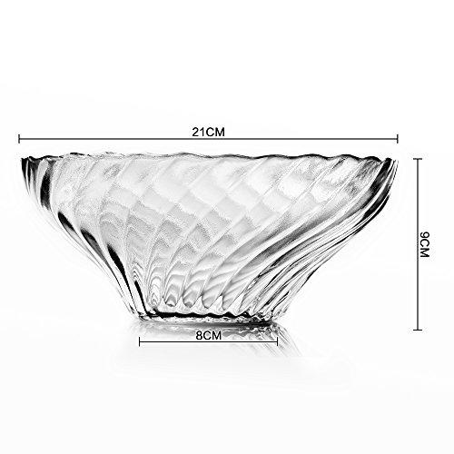 Transparent bleifreies Glas Schale von Obst Salat, Schüssel Suppe