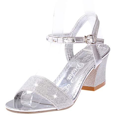 Frauen Open Toe Knöchelriemen Slingback Sandalen Kätzchen Ferse Strass Verzierte Schnalle Kleid Pumps Casual Sandalen Slingback Open Toe Pump
