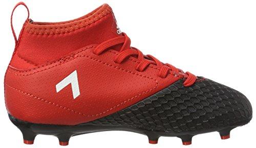 adidas  Ace 17.3 Fg J, Chaussures de Football Entrainement Unisexe - enfant Rouge (Red/ftwr White/core Black)