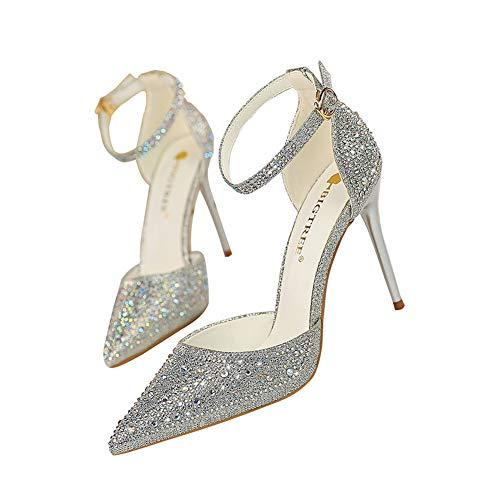 Moquite 2019 Nuovo Sexy Moda Scarpe col Tacco Donna Tacco a Spillo Alto Sandali Shoes Primavera ed Estate con Tacco Alto Femminile
