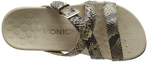 VIONIC Kira - Sandali a Punta Aperta, da Donna Multicolore (Natural Snake)
