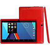 Android 4.4 Tablet PC 7Inch16:9 Width Screen Duad Core 1GB+8GB Dual Camera (Red)