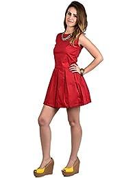 moda skool style -red dress