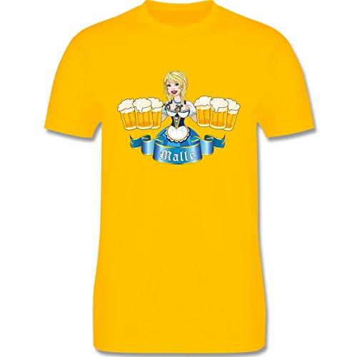 Urlaub - Malle Bier Mädl - Herren Premium T-Shirt Gelb