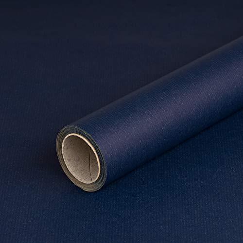 l-Blau, Kraftpapier, gerippt, 60 g/m², Geburtstagspapier, Weihnachtspapier - 1 Rolle 0,7 x 10 m ()