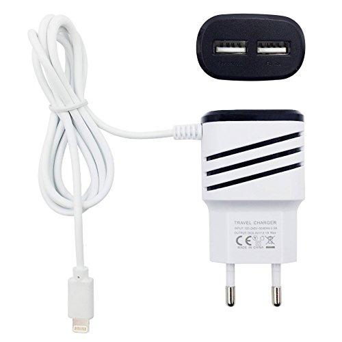 USB Ladegerät Dual USB-beweglich Reise Wand-Aufladeeinheit Ladeadapter Ladestecker Verbinden Sie sich mit...