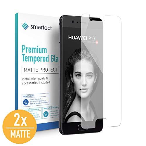 smartect Mattes Panzerglas für Huawei P10 [2X MATT] - Bildschirmschutz mit 9H Härte - Blasenfreie Schutzfolie - Anti Fingerprint Panzerglasfolie
