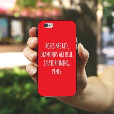 Apple iPhone X Silikon Hülle Case Schutzhülle Rosen Diamant Humor Silikon Case schwarz / weiß