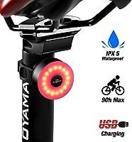 DONPEREGRINO M2 - LED Luce Bici Fino a 90 Ore di Illuminazione, Fanale Posteriore Bicicletta Ricaricabile USB con 5...