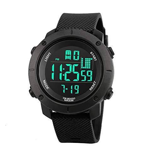 GHYH Herren Luxus Männer Sport Digitale Militär Führte Wasserdicht Armbanduhr Uhr Watch Armbanduhr(Schwarz) ()