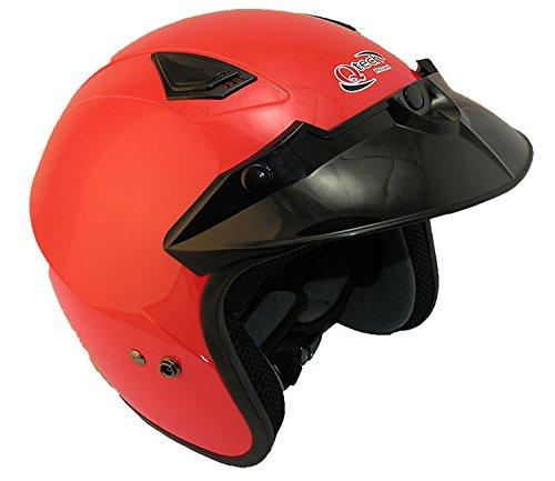 Qtech EC 22 - Casco abierto para scooter - Rojo / plateado / negro / azul - Rojo - XL (61-62 cm)