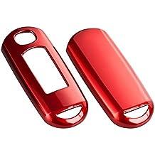 Para Llaves carcasa para llave de coche rojo metálico C35para Mazda 6Mazda CX-5Mazda 3Mazda CX-9Mazda CX-7