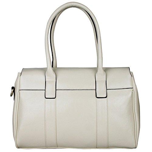 Miss Lulu Fashion, in finta pelle, con borsa a tracolla Beige (beige)