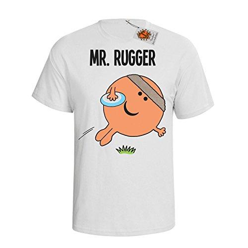 `Mr Rugger` mens herren Hobbies / Berufe perfect Rugby gift t shirt Weiß