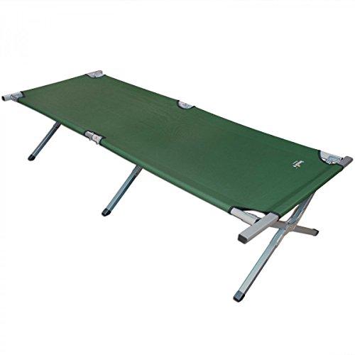 XXL Alu Feldbett klappbar mit Tragetasche :: Campingbett bis 150 kg belastbar :: 210 x 78 x 47 cm :: Klappbett Campingliege