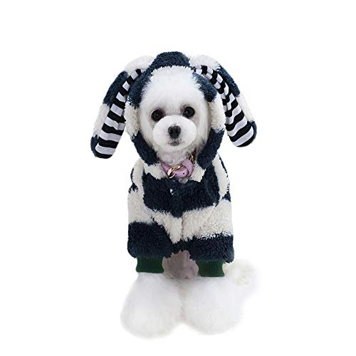 FITIN PET Cat Dog Clothing Dog Cats Apparelpet Verkleiden Große Ohren Kaninchen Mantel Mantel Dog Cats Kostüme,Black,XL