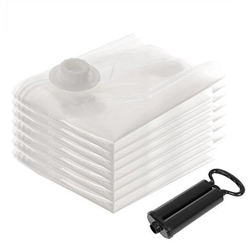 SONGMICS 8-Teilig Set 60 x 40 cm Vakuumbeutel mit Pumpe Aufbewahrungsbeutel Haushaltshelfer RVM081 (Bettdecke Bett In Einem Beutel)