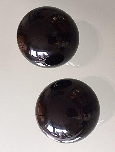 Geheimnisvolle schwarze Glaskugeln Ø 40 mm, 2 Stück
