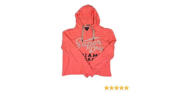 Superdry Sweat Shirt À Capuche Sport Femme Beach Coral