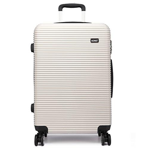 "Kono Juego de maletas morado 20' maleta de equipaje de mano de la cabina (20"" Blanco/Negro)"