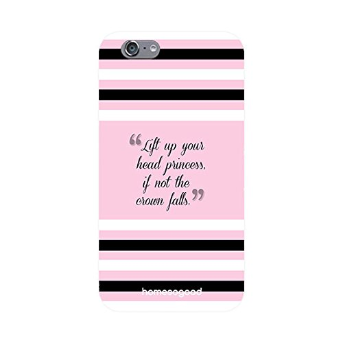 HomeSoGood Live Head Held High Quote Pink 3D Mobile Case For iPhone 6S (Back Cover)