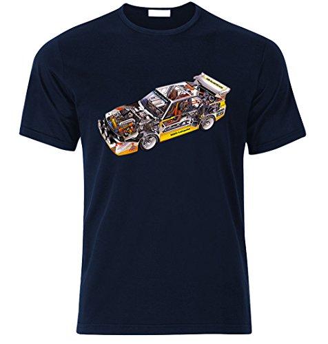 HB AUDI S1 QUATTRO RALLY TEAM Walter Röhrl T Shir T-shirt size S-XXL Weihnachtsgeschenke Xmas Navy Blau