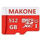 MAKONE 512GB Micro SD-kaart Klasse 10 met gratis SD-adapter ontworpen voor Android-smartphones, tablets