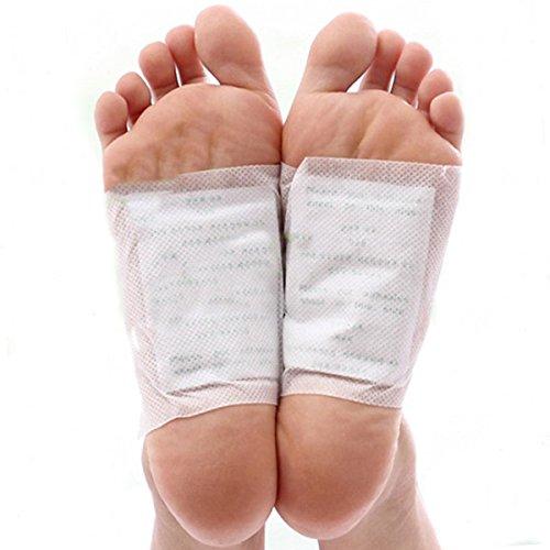 Detox Pflaster Fuß, Kapmore 100pcs Detox Fußpflaster zum Körper Entgiften Bambuspflaster mit Turmalin Fußpflaster zum Entschlacken Pflaster Entgiftung (100PCS) -