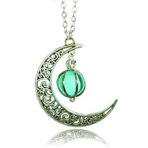 Gpiral luna, stella luminosa in lega jewelry collana con ciondolo placcato (18