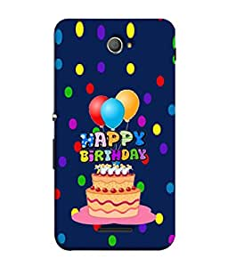 PrintVisa Designer Back Case Cover for Sony Xperia E4 :: Sony Xperia E4 Dual (Cute Greeting Card Happy Frame Gift Colors Illustration)