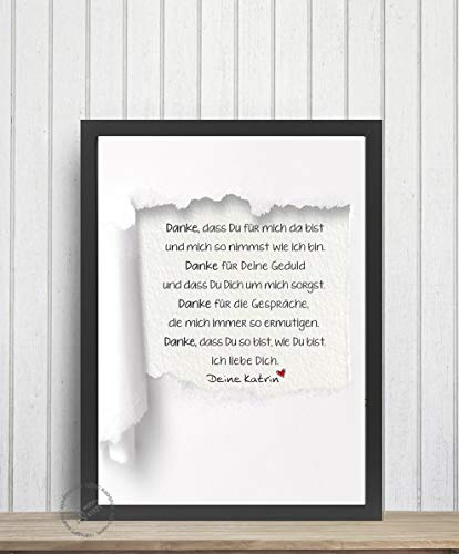 Print Poster Druck *Brief an einen geliebten Menschen* Anfertigung Geschenk für Mama Papa Freund/in Schwester