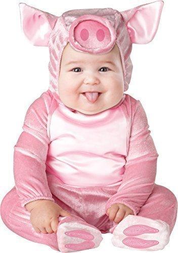 Deluxe Baby Jungen Mädchen Rosa Schwein Nutztier Charakter Halloween Kostüm Kleid Outfit - Rosa, 0-6 Monate (Baby-schwein Halloween Kostüm)