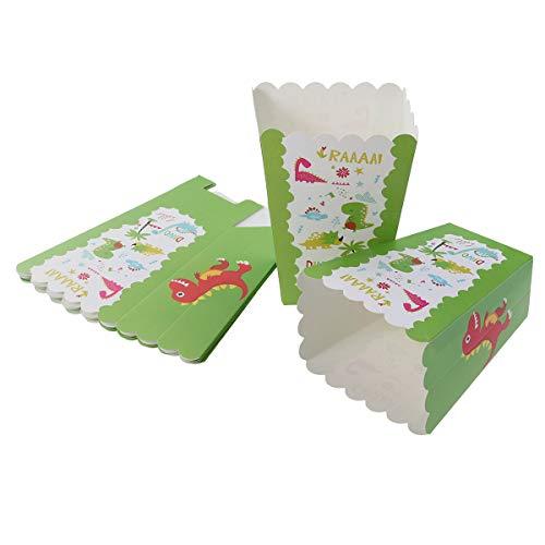 Besonzon Popcorn-Boxen, Dinosaurier-Muster, Einweg-Popcorn-Behälter, Hochzeit, Geburtstag, Party, Supplies - Beschichtete Popcorn