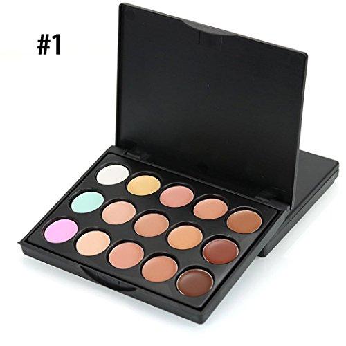 SOMESUN Mini 15 Couleurs Visage Concealer CrèMe de Camouflage Palette de Contour Naturel Facile à Porter Beauté Palettes de Maquillage (A)