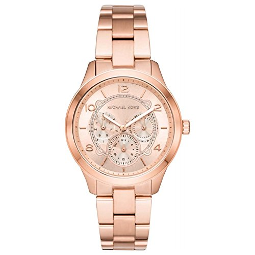 55ab20311fe1 Michael Kors Reloj Analógico para Mujer de Cuarzo con Correa en Acero  Inoxidable MK6589