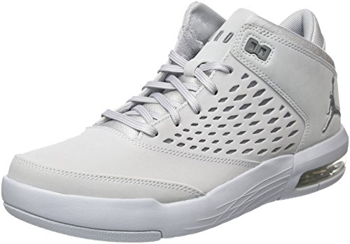 Nike Herren Jordan Flight Origin 4 Basketballschuhe, Grau (Wolf Gr E Y Cool Grey 005), 42 EU - Nike Flight Basketball-schuhe Herren