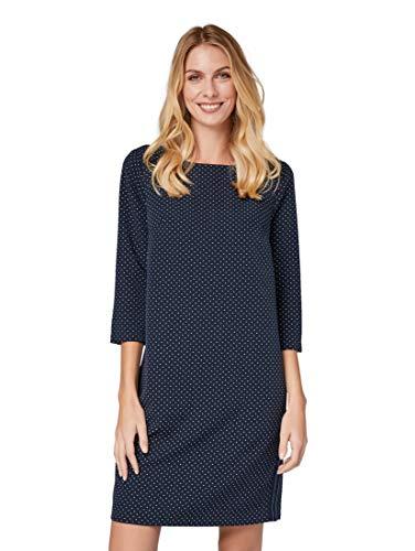 TOM TAILOR für Frauen Kleider & Jumpsuits Gepunktetes Kleid Navy dot Print small, 34