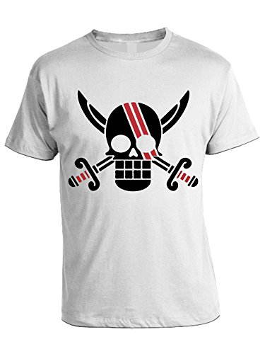 Tshirt One Piece - Shanks - humor - anime - in cotone Bianco