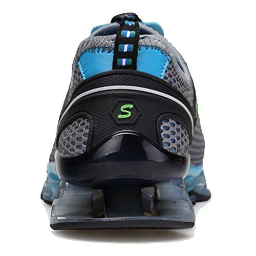 Qiucdz Hommes Chaussures De Sport Lumière Respiration Amorti Marcher Sneaker Escalade Gris Chaussures De Jogging