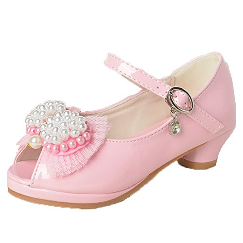 OPSUN Sandales Chuaussures princesse Enfants Filles Ballerines à bride Chaussure Cérémonie Mariage Escarpin Babies Rose