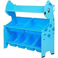 SONGMICS Spielzeugregal in Tierform mit 6 Boxen und 1 Ablage Kinderregal zur Aufbewahrung von Spielzeug preisvergleich bei kinderzimmerdekopreise.eu