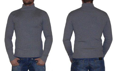 "S&LU Stretch Rollkragen Pullover Strickpulli ""8771"" Grau"