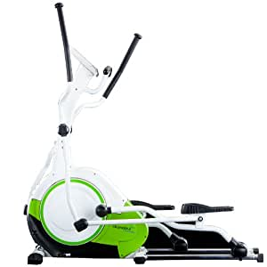 skandika Jupiter Vélo elliptiqueMasse d'inertie 21kg et grand ordinateur multifonction avec 20programmes d'entraînement dont 1programme de perte de graisse corporelle, Crosstrainer Jupiter, vert, 166 x 68 x 158 cm