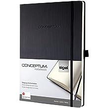 Sigel CO110 Conceptum Libreta / Cuaderno, tapa dura, aprox. A4, blanco, negro