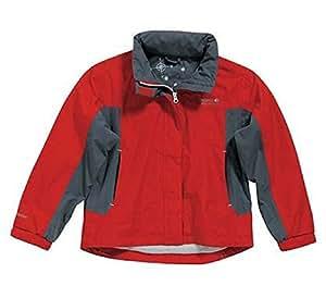 Regatta Goldmine Waterproof Jacket - RKW041 (Flame/Seal Grey, 8)