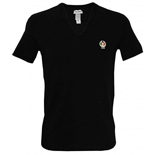 dolce-gabbana-sport-crest-deep-v-neck-t-shirt-homme-noir-small