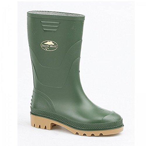 Stormwells SPLASH Kids Junior PVC Wellington Boots Green