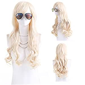 Long Blonde Wig High Quality Wavy Blonde Wigs For Women by Grimm Hair